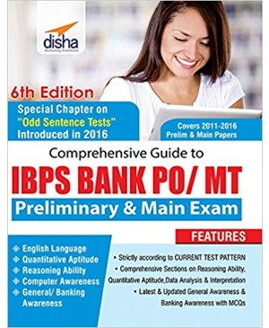 Comprehensive Guide to IBPS Bank PO/MT Preliminary & Main Exam - Disha Publication