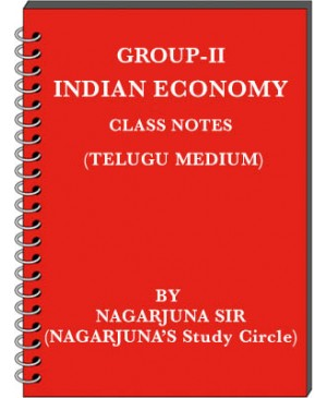 Group 2 Indian Economy - Class Notes by Nagarjuna Sir - Telugu Medium - PDF