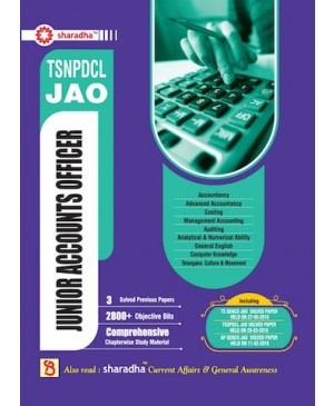 TSNPDCL JAO 2018 (Junior Account Officers) Comprehensive Study Material (English Medium) Sharadha Publications